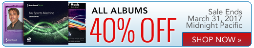 Albums 40% off