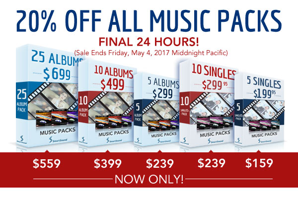 SmartSound Albums and Singles Pack Sale