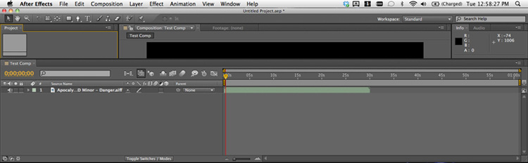 After Effects screen shot