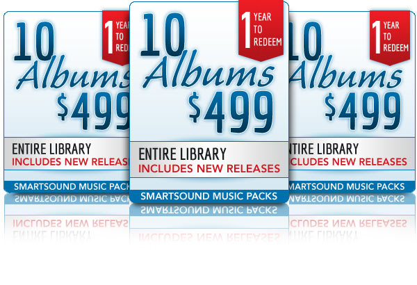 10 Album Packs for $499