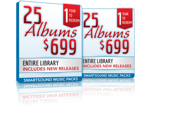 25 Album Packs for $699