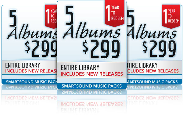5 Album Packs for $399